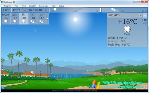 Скриншот программы YoWindow для Windows 7
