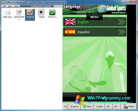 Скриншот программы YouWave для Windows 7