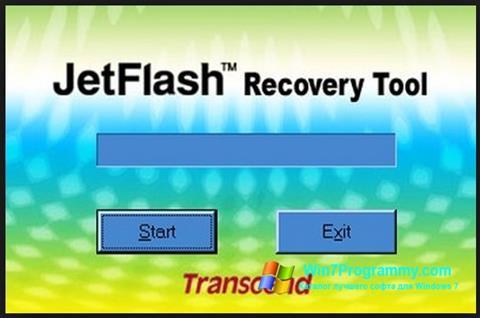 Скриншот программы JetFlash Recovery Tool для Windows 7