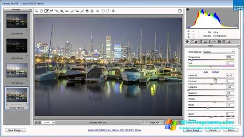 Скриншот программы Adobe Camera Raw для Windows 7