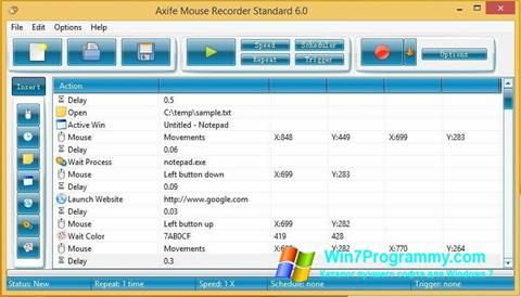 Скриншот программы Mouse Recorder для Windows 7