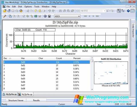 Скриншот программы Hex Workshop для Windows 7
