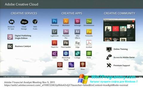 Скриншот программы Adobe Creative Cloud для Windows 7