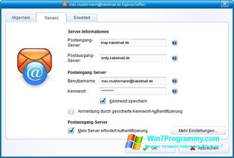 Скриншот программы IncrediMail для Windows 7