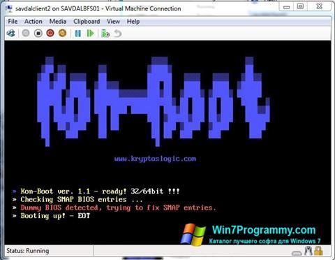 Скриншот программы Kon-Boot для Windows 7