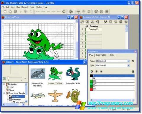 Скриншот программы Toon Boom Studio для Windows 7