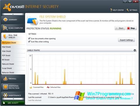 Скриншот программы Avast Internet Security для Windows 7