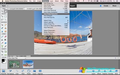 Скриншот программы Photoshop Elements для Windows 7