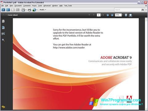 Скриншот программы Adobe Acrobat Pro Extended для Windows 7