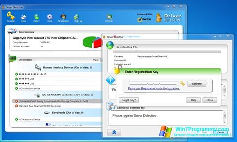 Скриншот программы Driver Detective для Windows 7