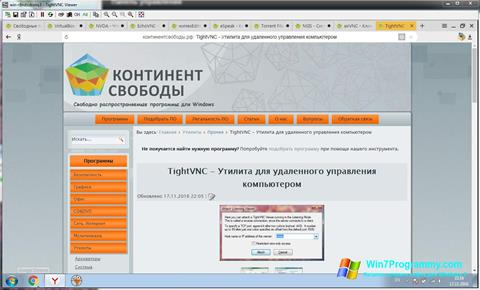 Скриншот программы TightVNC для Windows 7