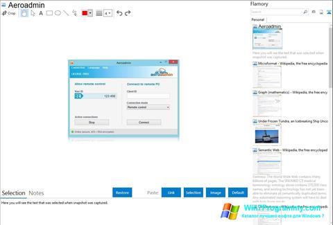 Скриншот программы AeroAdmin для Windows 7