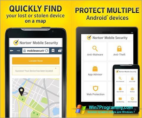 Скриншот программы Norton Mobile Security для Windows 7