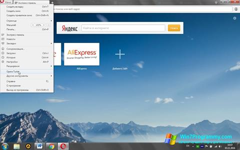 Скриншот программы Opera Turbo для Windows 7