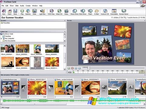 Скриншот программы ProShow Gold для Windows 7