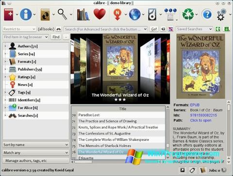 Скриншот программы Calibre для Windows 7