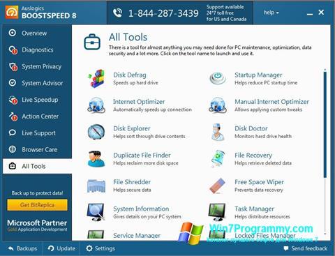 Скриншот программы Auslogics BoostSpeed для Windows 7