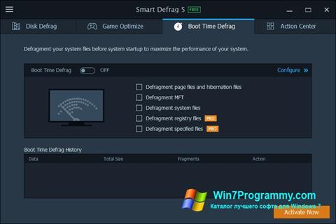Скриншот программы Smart Defrag для Windows 7
