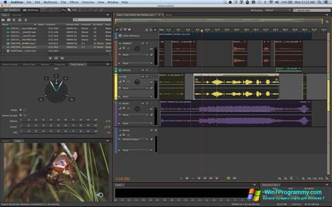 Скриншот программы Adobe Audition для Windows 7