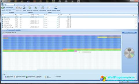 Скриншот программы PerfectDisk для Windows 7