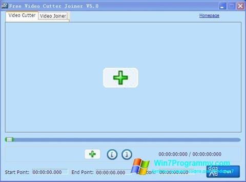 Скриншот программы Free Video Cutter для Windows 7