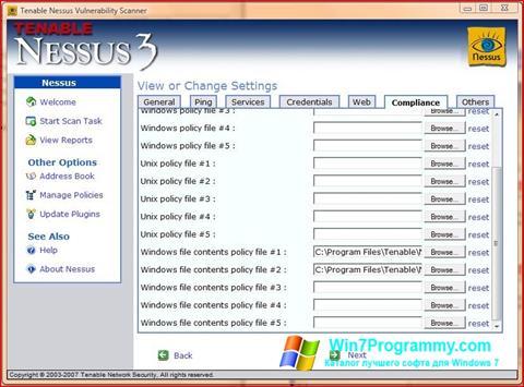 Скриншот программы Nessus для Windows 7