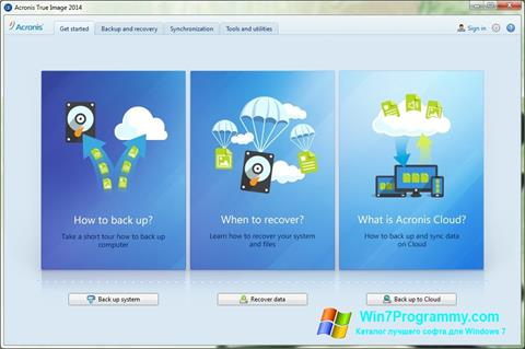 Скриншот программы Acronis True Image для Windows 7