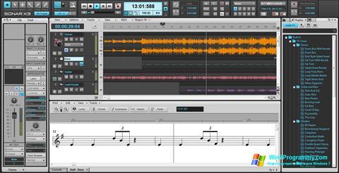 Скриншот программы Cakewalk Sonar для Windows 7
