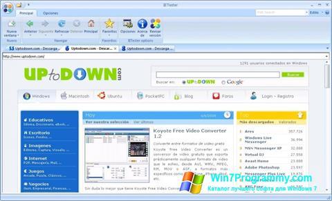 Скриншот программы IETester для Windows 7