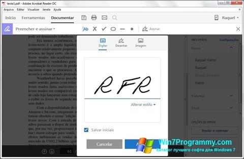Скриншот программы Adobe Acrobat Reader DC для Windows 7