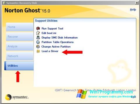 Скриншот программы Norton Ghost для Windows 7