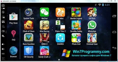Скриншот программы KOPLAYER для Windows 7