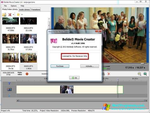 Скриншот программы Bolide Movie Creator для Windows 7