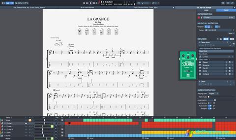 Скриншот программы Guitar Pro для Windows 7