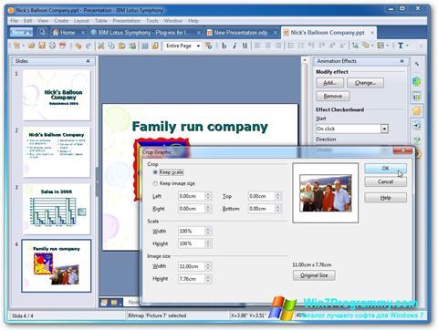 Скриншот программы Lotus Symphony для Windows 7