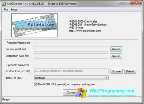 Скриншот программы AutoHotkey для Windows 7