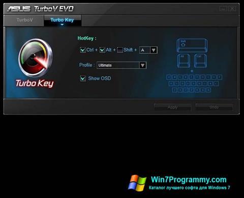 Скриншот программы TurboV EVO для Windows 7