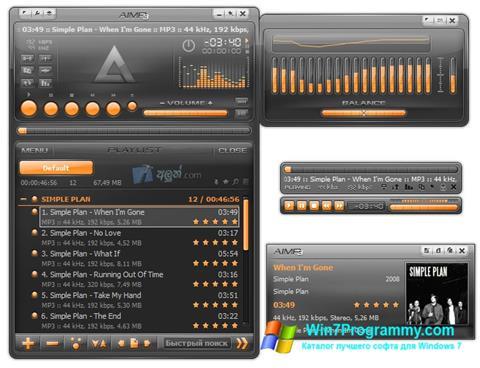Скриншот программы AIMP для Windows 7