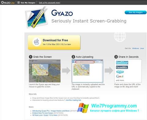 Скриншот программы Gyazo для Windows 7