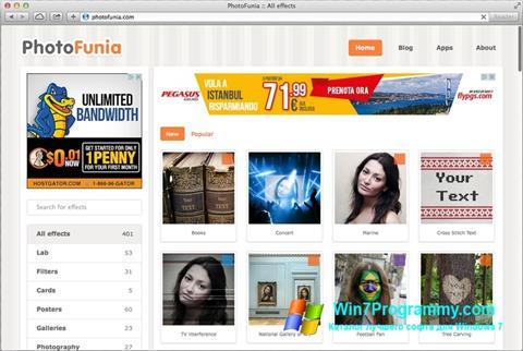 Скриншот программы PhotoFunia для Windows 7