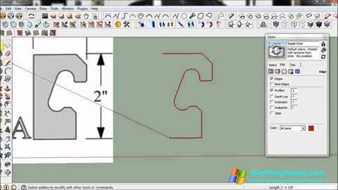 Скриншот программы SketchUp для Windows 7