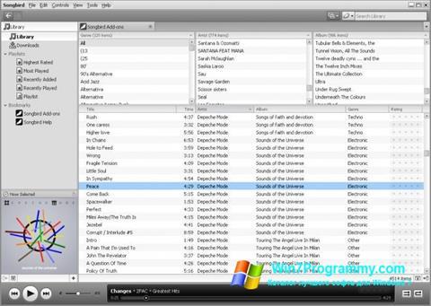 Скриншот программы Songbird для Windows 7