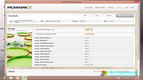 Скриншот программы PCMark для Windows 7