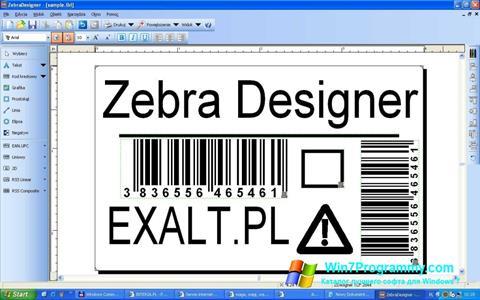 Скриншот программы Zebra Designer для Windows 7