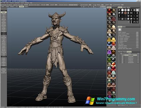 Скриншот программы 3D-Coat для Windows 7