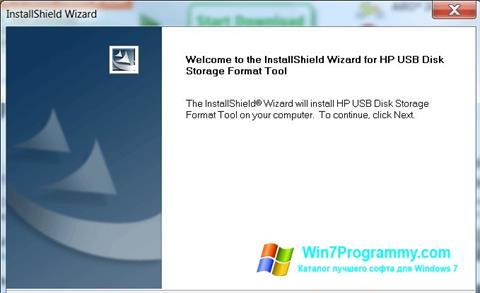 Скриншот программы HP USB Disk Storage Format Tool для Windows 7