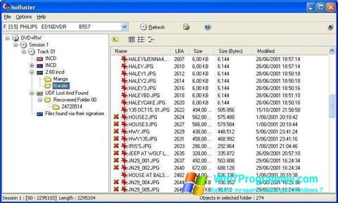 Скриншот программы IsoBuster для Windows 7