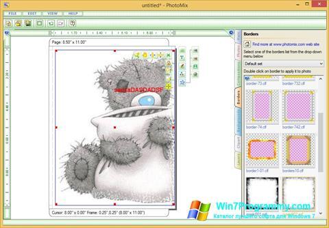 Скриншот программы PhotoMix Collage для Windows 7