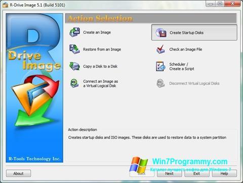 Скриншот программы R-Drive Image для Windows 7