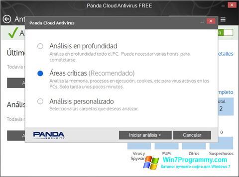 Скриншот программы Panda Cloud для Windows 7